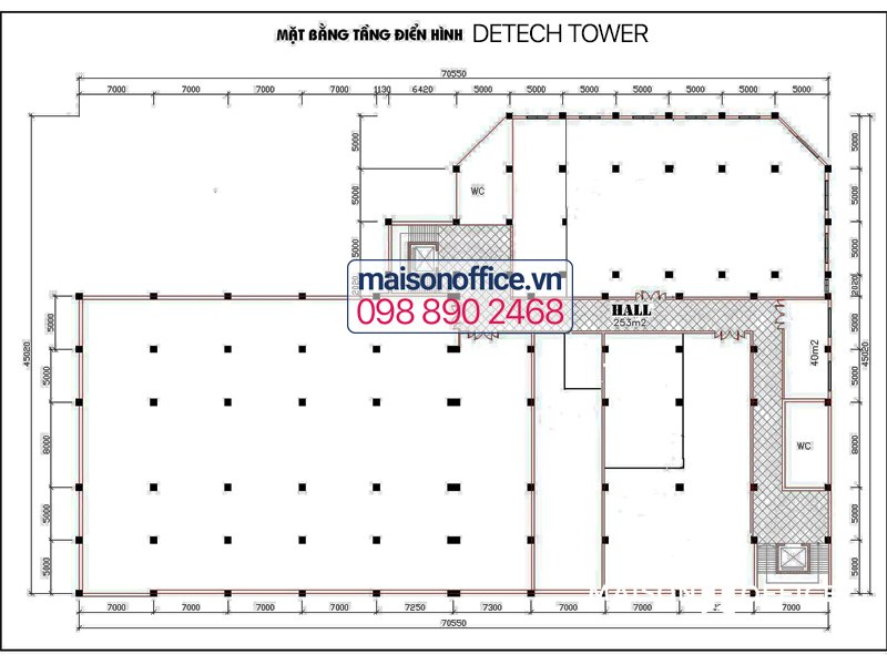 Layout of Detech building
