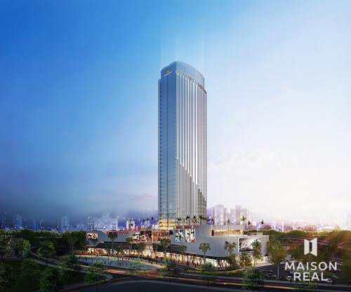 Phối cảnh tòa nhà cao nhất vịnh bắc bộ