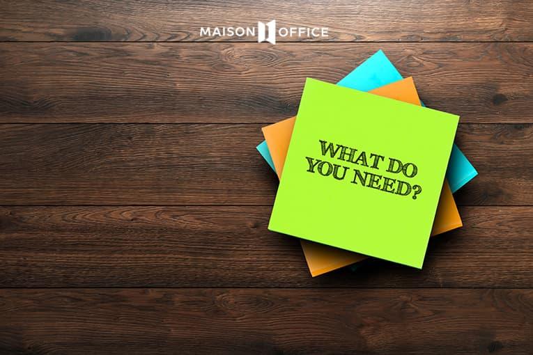 Xác định muc đích cụ thể cho văn phòng mới
