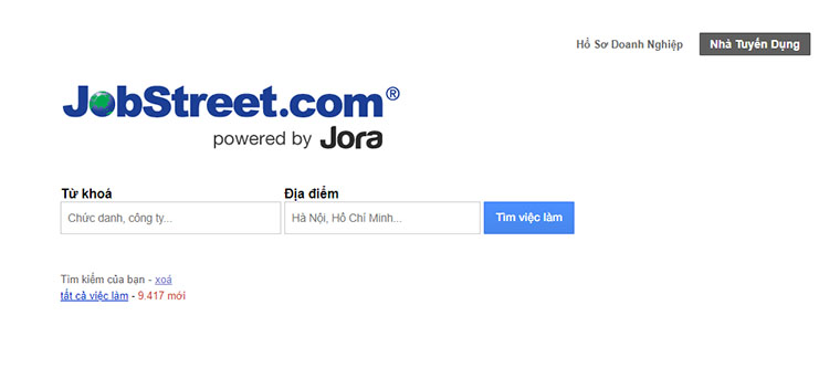 jobstreet home page
