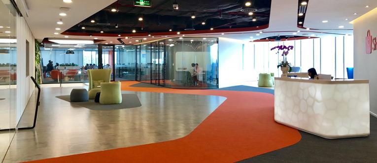 thiết kế nội thất văn phòng của Shopee 1