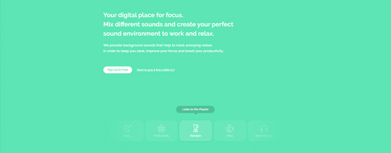 website giảm stress Noisli