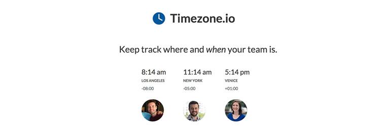 phần mềm làm việc từ xa Timezone.io